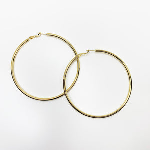 Oversized Thin Gold Hoops