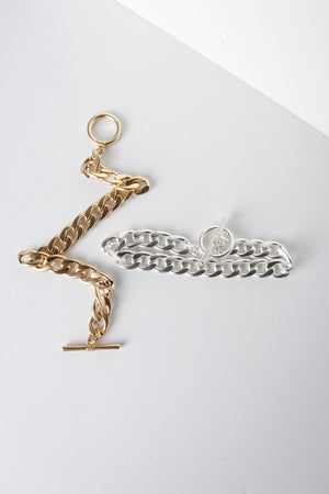 Gold and Silver Chain Bracelet