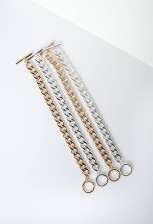 Gold and Silver Chain Bracelets