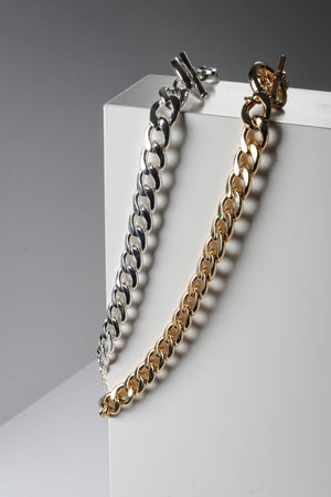 Gold and Silver Chain Necklace