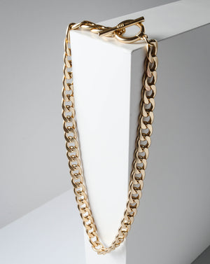 Jaime Chain Choker, Satin Gold