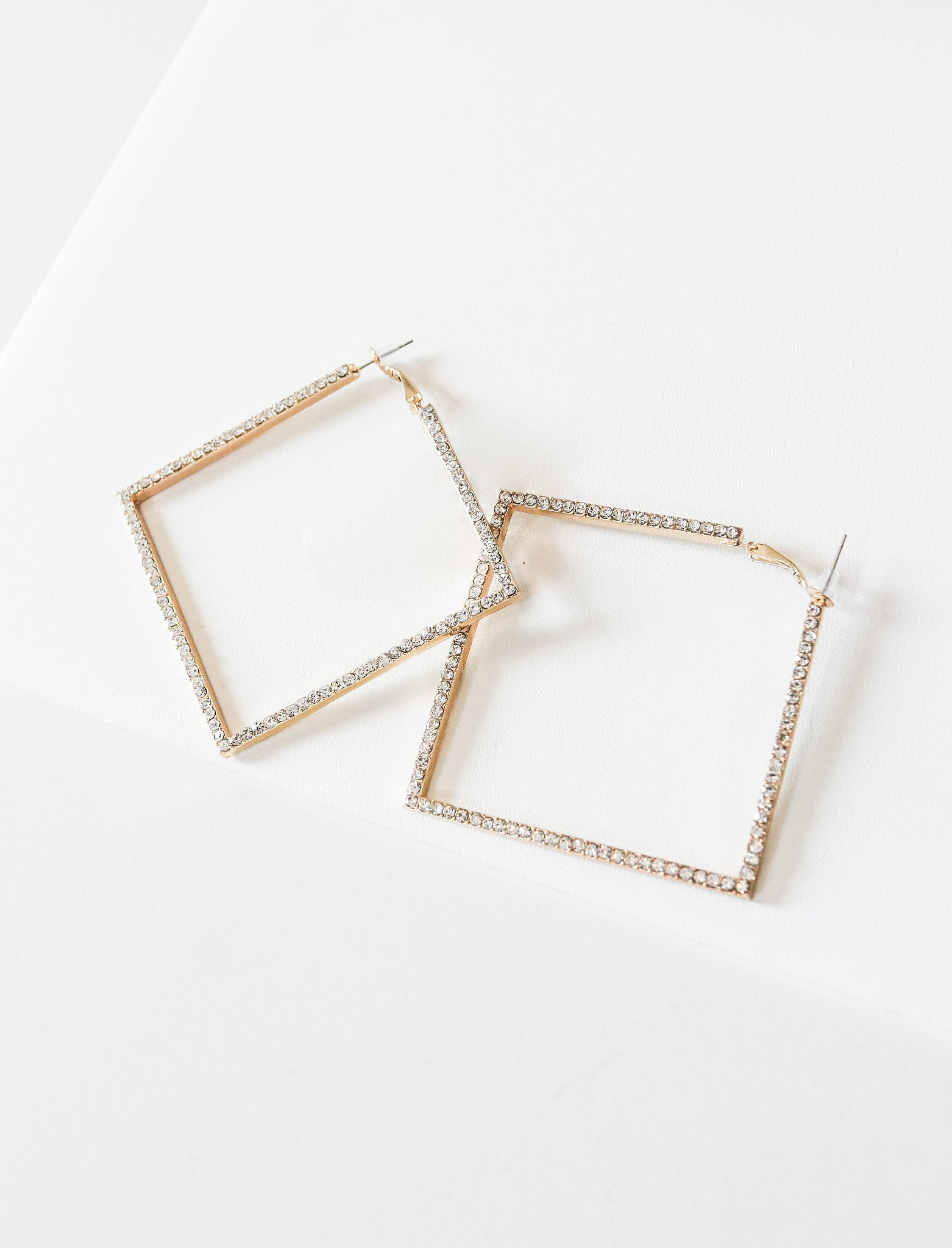 Jessica Square Hoop Earrings