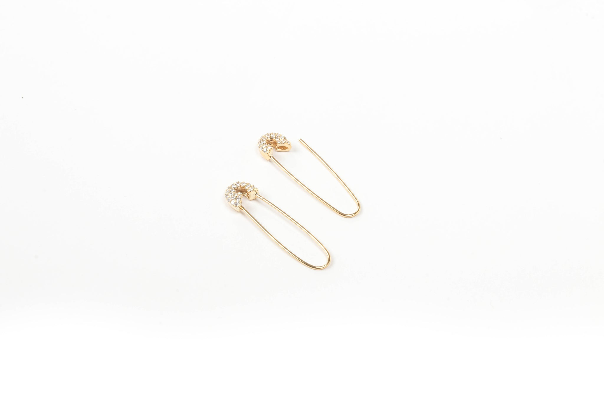 Nikki Safety Pin Earrings