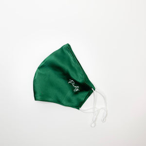 Purty Silk Face Mask in Deep Emerald