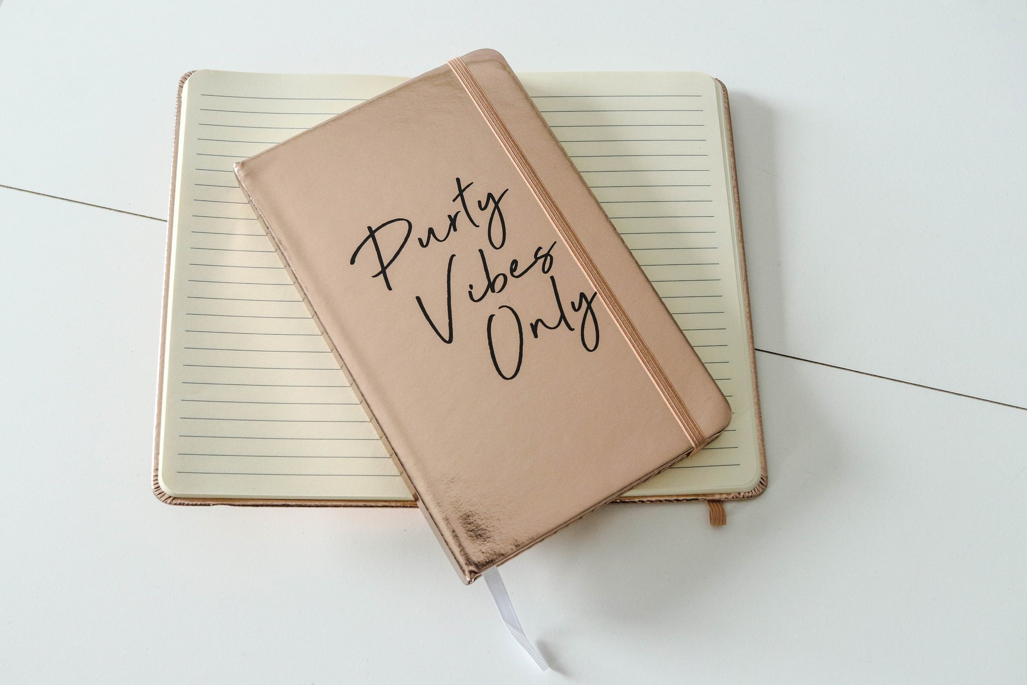 Purty Vibes Only Metallic Journal