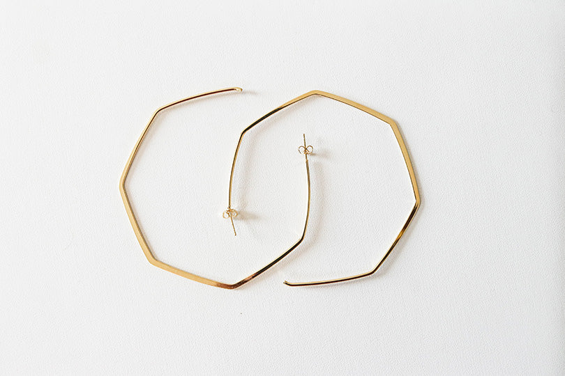 Oversized Gold Geometric Hoop Earrings