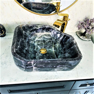 Amethyst Purple Onyx Crystal Sinks