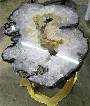 Amethyst & Quartz Geode Tables