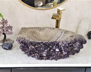 Amethyst Geode Sinks and  Amethyst Sinks