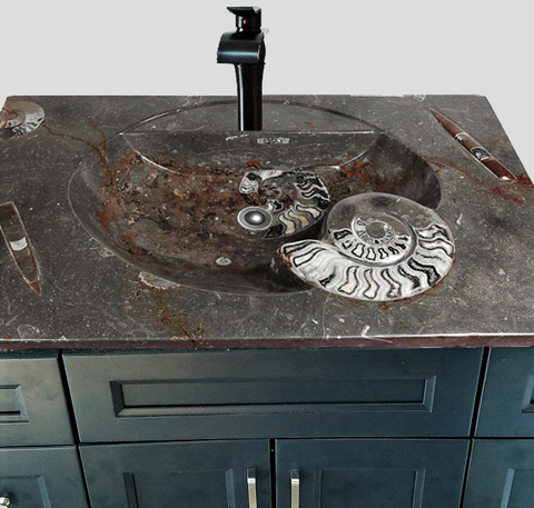 Fossil Marble Vanity Top Sinks