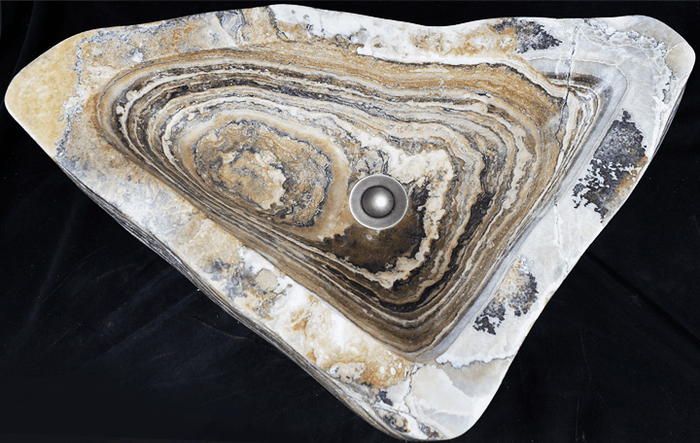 "Agate Crystal Sink #15 (23"" x 13"" x 6"" Tall) {Free Shipping}"