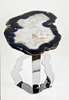 "Agate Side Table #218-B { 30 x 22 x 22"" tall}"