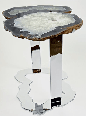 Agate Side Table #228-B (Inquire For Information Please!)