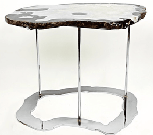 "Agate Side Table #234 { 31 x 24.5"" x 22"" tall }"