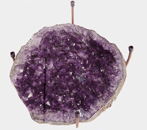 Amethyst Geode table #28 Hand Forged Base (Inquire For Information Please!)