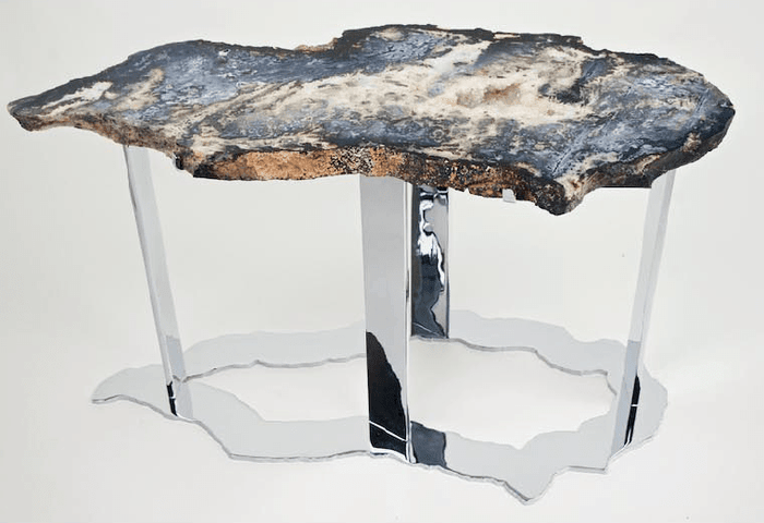 Blue Ocean Jasper Table #99 { 40 x 18 x 22 tall } {Contact For Price}