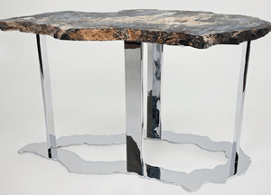 Blue Ocean Jasper Table #99 { 40 x 18 x 22 tall }