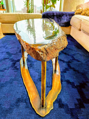 Giant Blue Agate Coffee Table #315  completed with backlights {65