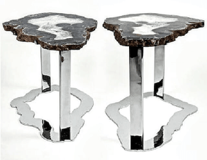 Matching Set Of Agate Side Tables #231/232