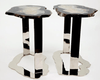 Matching Set of Agate Side Tables #259/260 { 25 x 16 x 22 tall }