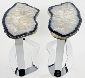 Matching Set of Agate Side Tables #269/270 { 32 x 15 x 22 tall }