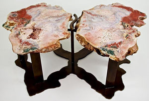 "Pink Amethyst Geode Coffee Table ""Wings"""