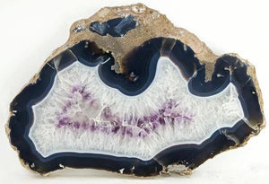 "Giant Amethyst Slab #341 (23"" x 15"" x 1 1/2"" thick) {Contact For Price}"