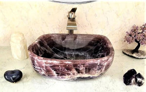 "Amethyst Purple Onyx Sink #020 (19"" x 15.5"" x 6.5"" tall x 120/lbs )"