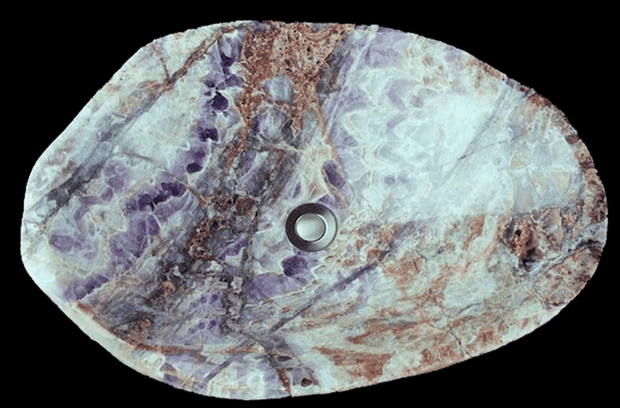 Amethyst Sink #43 (24 x 17 x 6 tall x 88/lbs ) {Contact For Price}