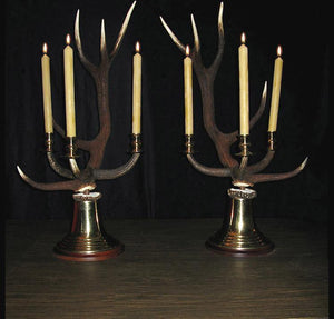 Red Stag Antler Candelabras 3-Candle * Design by Luca 40-44 Tall {SPECIAL ORDER!} Conatct For Price!