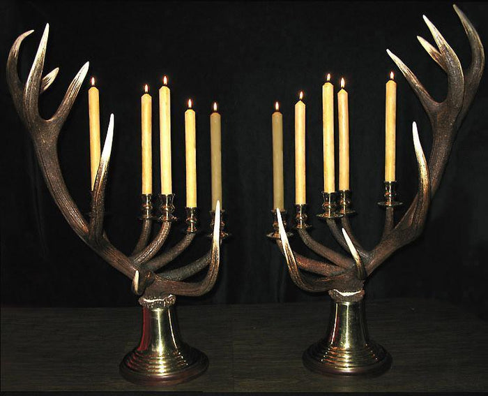 Red Stag Antler Candelabras 5-Candle * Design by Luca 40-46 Tall {SPECIAL ORDER!} Conatct For Price!