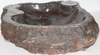 "Grande Fossil Marble Sink #156-EH (24"" x 23"" x 6.5"" Tall W/ 1 5/8"" Drain) {Free Shipping}"