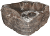 "Grande Fossil Marble Sink #176-EH (30"" x 21"" x 8""  Tall W/ 1 5/8"" Drain) {Free Shipping}"