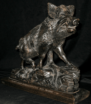 Black Forest Carved Boar