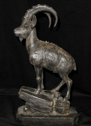 "Antique Black Forest Carved Ibex 14"" Tall {Contact us for pricing} In-Stock"