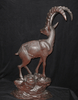 Antique Black Forest Carved Ibex