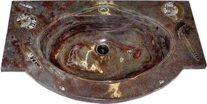 "RARE Fossil Agate Vanity Sink #4L (36""x 22"" x 6.5"" deep W/-1 3/4"" Drain Hole) {Contact For Price}"