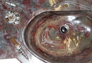 RARE Fossil Agate Vanity Sink #4L