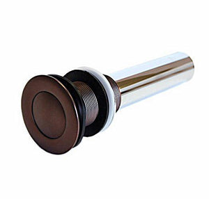 Oil Rubbed Bronze Pop-Up Drain less Overflow for 1 1/2