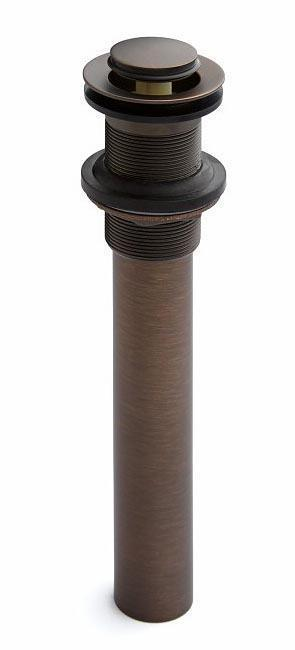 "Oil Rubbed Bronze Press Type Pop-Up Lavatory Drain Fits 1-1/2"" Drains"