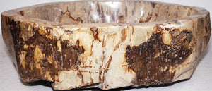 Petrified Wood Sink #156B-EH Petrified Teak