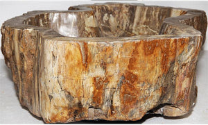 Petrified Wood Sink #170A-EH Petrified Teak (Sale with free shipping)