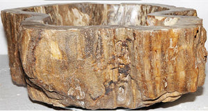 Petrified Wood Sink #170A-EH Petrified Teak