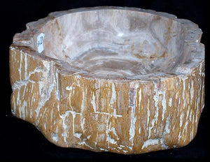 Petrified Wood Sink #20-EH Made from Petrified Teak