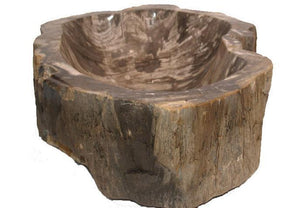 Petrified Wood Sink #220C-EH Petrified Teak