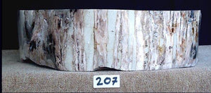 Petrified Wood Sink {Petrified Rosewood} #207-EH