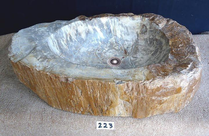 Petrified Wood Sink {Petrified Teak} HEAVY #223-EH