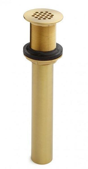 "Satin Solid Brass Grid Drain  For 1-1/2"" Drains"