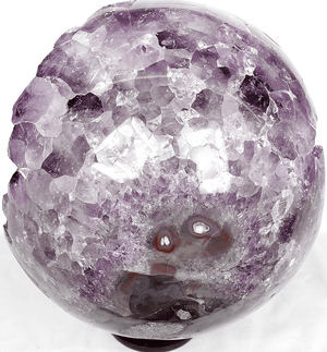 "Amethyst Crystal Sphere #1 {8 1/4"" in Diameter 16/lbs) {Contact For Price}"