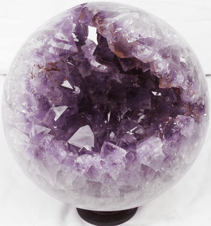"Amethyst Sphere #3 With Stand {8"" in Diameter 18/lbs) {Contact For Price}"